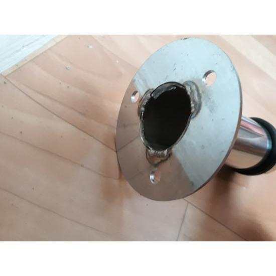 """Ограничитель тяжёлой двери стальной """"Столбик"""" диаметром 32мм с усиленным основанием. Высота любая"""