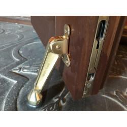 """Фиксатор открывания  тяжёлой двери """"Козья ножка 85мм"""" ( золото) . Стальной"""