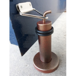 """Упор  тяжёлой двери """"бронза""""с фиксатором накидным кольцом.Высота  любая. Pisla 881(аналог)"""