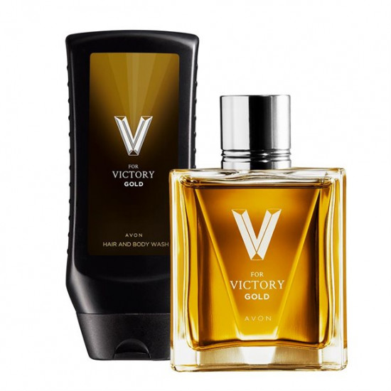 Набор Avon V for Victory Gold