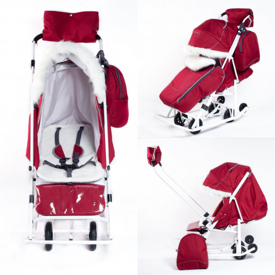 Санки - коляска pikate Снеговик