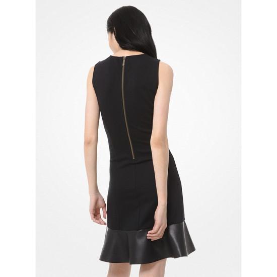 Stretch Ponte Flounce Dress