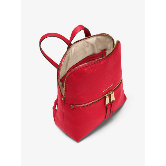 Rhea Medium Slim Leather Backpack