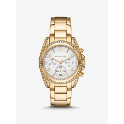 Oversized Blair Pavé Gold-Tone Watch