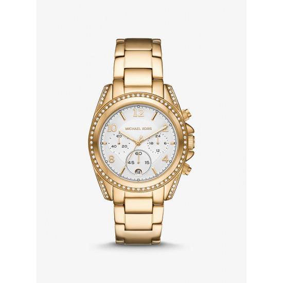 Oversized Blair Pavé Gold-Tone Watch